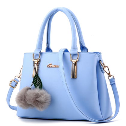 Women Korean Fashion Large Capacity Simple Solid Color Hand Bag
