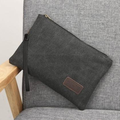 Men Korean Fashion New Envelope Casual Canvas Handbag
