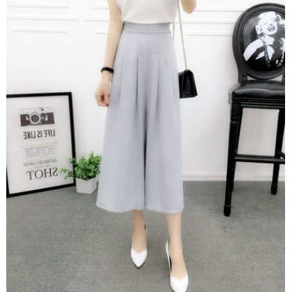Women Korean Fashion High Waist  Wild Chiffon Wide Leg Pants