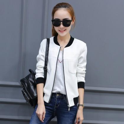 Women Korean Fashion Long Sleeve Casual Street Style Jacket