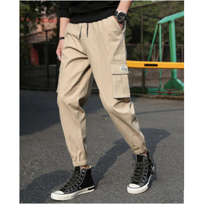 Men Fashion Trendy Street Style Loose Straight Pants