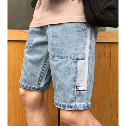 Men Fashion Trendy Street Style Loose Denim Shorts