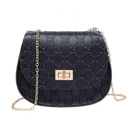 Women Korean Fashion Soft Surface Small Round Shoulder Sling Bag