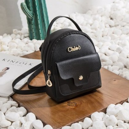 Women Korean Fashion Mini Simple Shoulder and Backpack