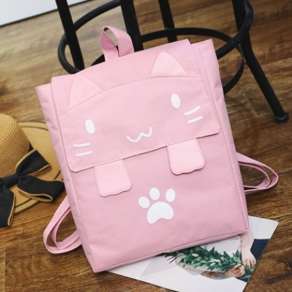 Women Korean Fashion Cartoon Printed Harajuku Style  Backpack