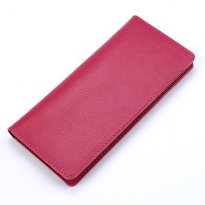 Men Ultra Thin Leather Long Wallet