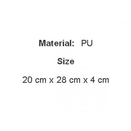 Men Korean Fashion Soft Leather Simple Black Clutch Bag