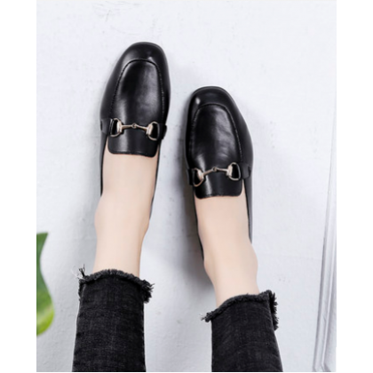 Women Korean Fashion New Wild Style Pedal British Flat Shoes