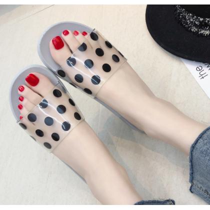 Women Indoor Non Slip Plastic Beach Slippers