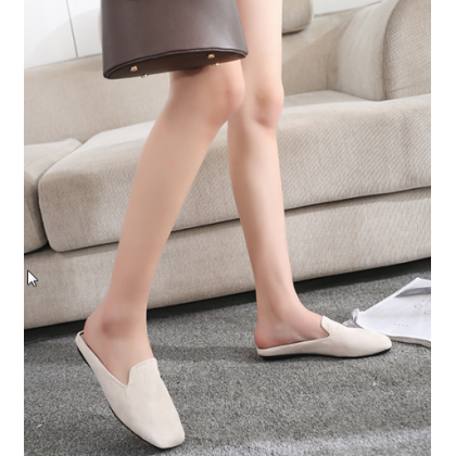 Women New Half Slippers Low Heel  Comfortable Sandals
