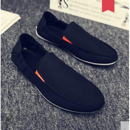 Men Korean Fashion Casual Canvas Lazy Peas Shoes