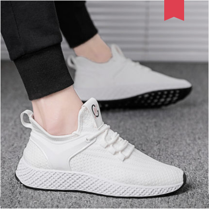 Men Korean Fashion wild Breathable Thin Section Woven Sports Shoes