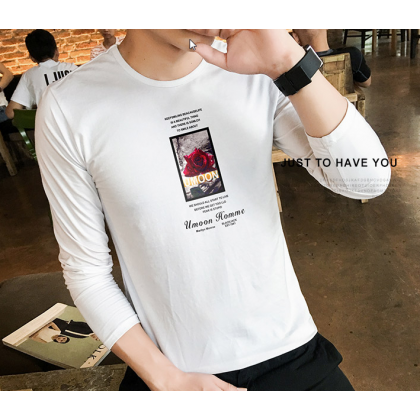 Men Fashion Long Sleeved Round Neck Summer Hot T Shirt
