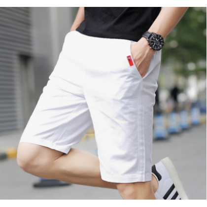 Men Korean Fashion Casual Cropped Trouser Loose Beach Shorts
