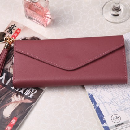 Women New Small Ultra Thin Long Card Wallet and Coin Purse