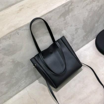 Women Korean Fashion  Wild Messenger Soft Leather Tote Bag