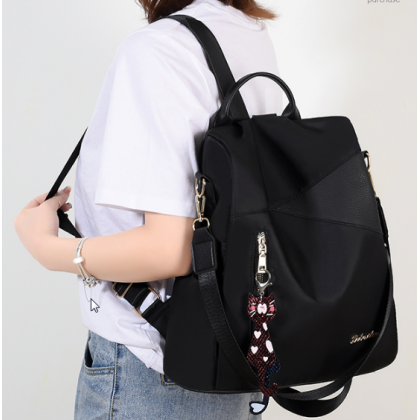 Women Korean Fashion Anti Theft Oxford Cloth  Backpack