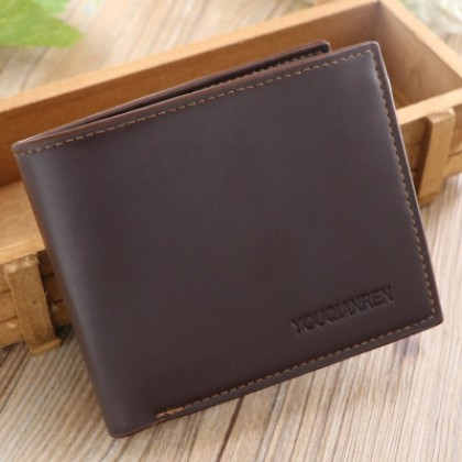 Men Fashion Glossy Leather Cross Country Cards Holder and Wallet