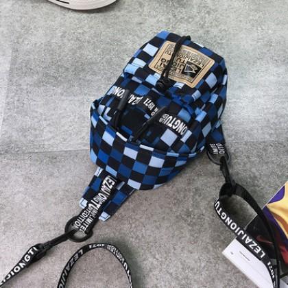 Men Fashion Trend Summer Shoulder Oxford Spinning Vertical Sports Chest Bag