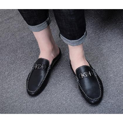 Men Korean Fashion Casual Summer Social Half Slipper Lazy Shoes