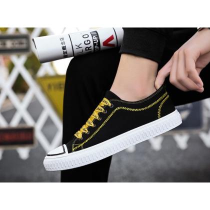 Men Korean Fashion New Casual Wild Breathable Canvas Shoes