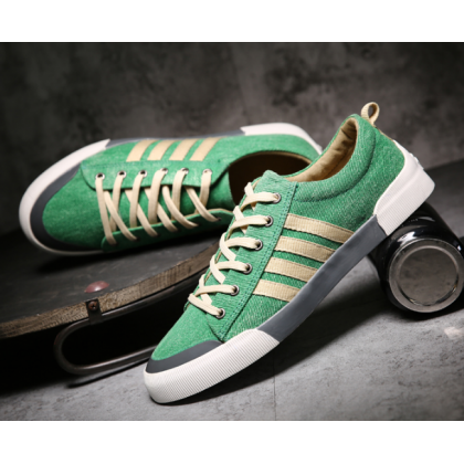 Men Korean Fashion  Youth Style Flat  Wild Breathable Canvas Shoes