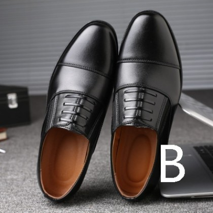 Men High Fashion Casual Youth Style Leather Black Shoes