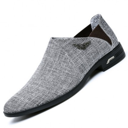 Men Fashion Casual Youth Style Breathable Cloth Pointed Shoes