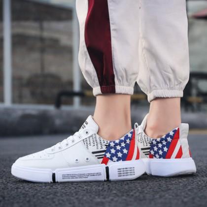 Men Korean Fashion Street Style Breathable Star Sport Shoes
