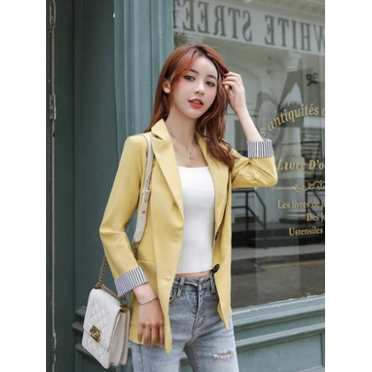 Women Korean Fashion Small Suit Casual Chic Jacket
