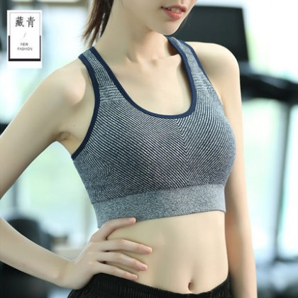 Women Korean Fashion Vest Style Shockproof Full Support Sport Bra