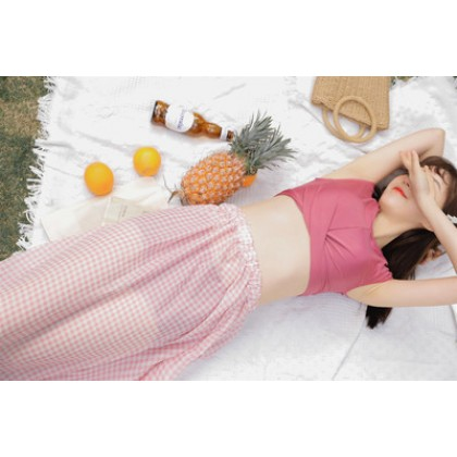 Women Korean Fashion 3 Piece Long Skirt Sexy Hot Swimwear