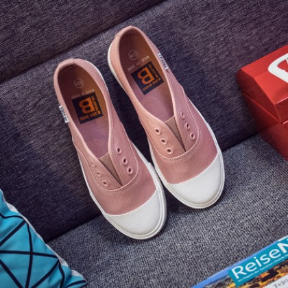[READY STOCK] Pink Classic Canvas Flat Shoes