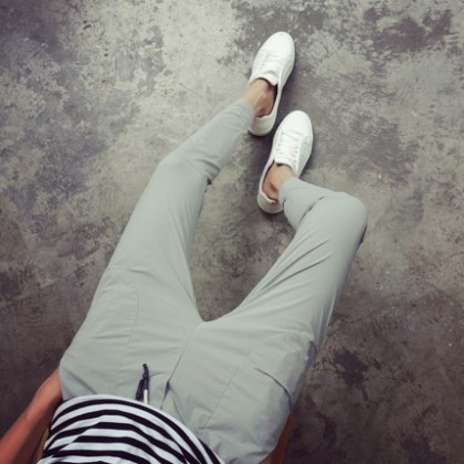 Men Korean Trend  Casual Straight Slim Feet Youth Style Trouser