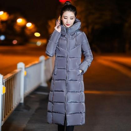 Women Body Warmer Long Hooded Jacket Plus Size Winter Coat