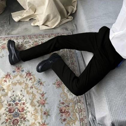 Men Korean Trend Small Loose Trouser Casual Fit Pants