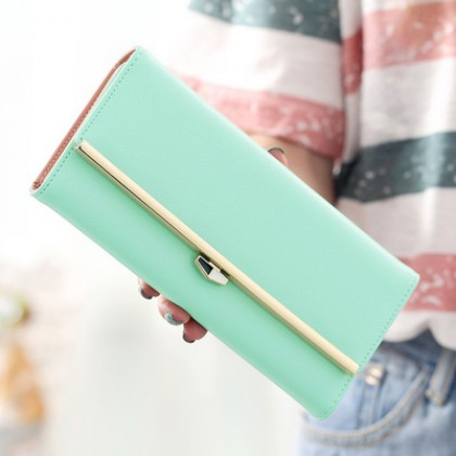Women Candy Pastel Cute Fashion Long Purse Wallet