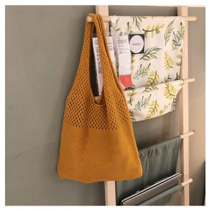 Women Basic Knitted Simple Fashion Shoulder Bag