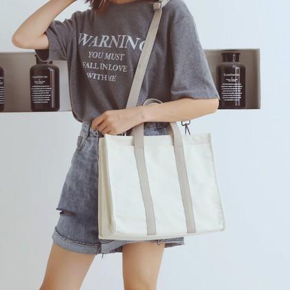 Women Simple Fashion Lazy Canvas Shoulder Sling Bag