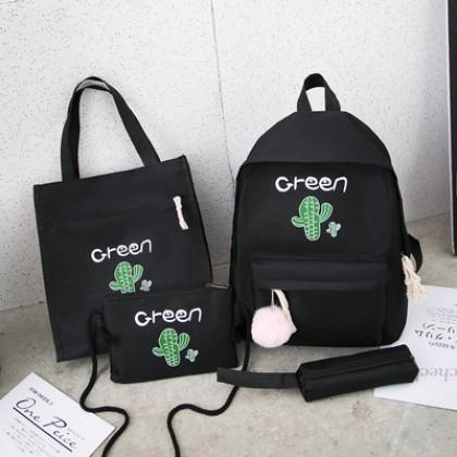Women Cute School Bag Set Large Capacity Waterproof Backpack