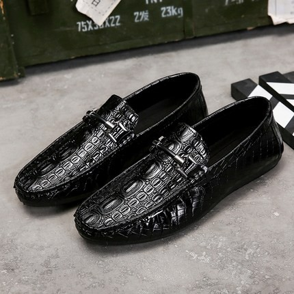 men animal skin like casual evening formal fashion shoes