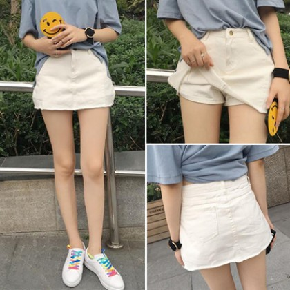 Summer High Waist Jeans Shorts Skirts