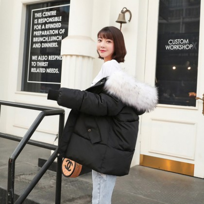 Women Fur Winter Fashion Jacket Cotton Coat