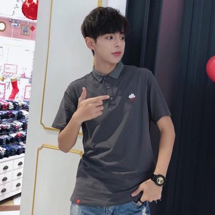 Men Loose Polo Cute Embroidery Sweet Fashion Couple T Shirt