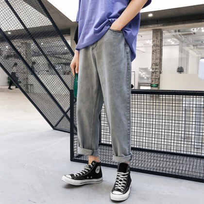 Men Loose Retro Trend Fashion Big Denim Jeans Pants