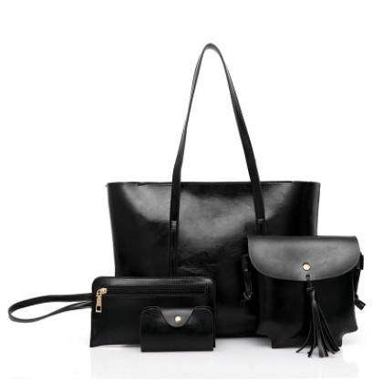 Women Minimalist Classic Fashion All In One Shoulder Bag Set