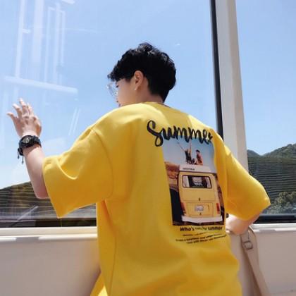 Men Short-Sleeved Loose Oversized Trendy Graphic Designed T-Shirt