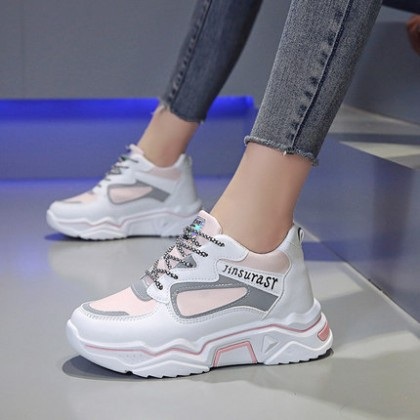 Women Casual Fashion Big Thick Sole Sneakers