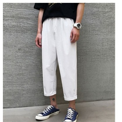 Men Casual Formal Attire Fashion Office Straight Cut Trousers