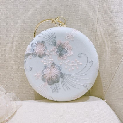 Women Evening Vintage Style Small Round Bag Purse